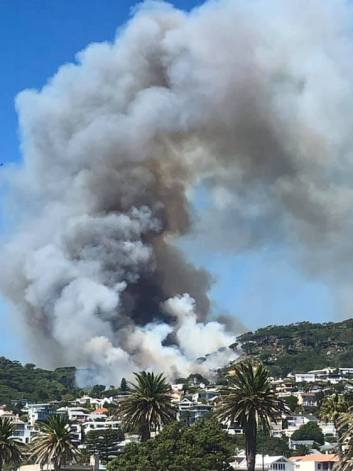 Cape Town Fire - Snapped by Tarryn Hardwicke